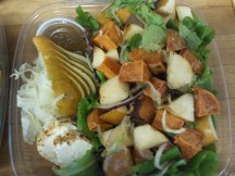 Roasted Sweet Potato, Pear, and Goat Cheese Salad