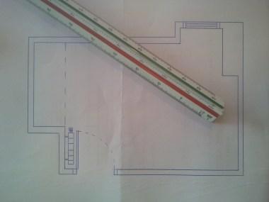 Plano a escala con escalimetro