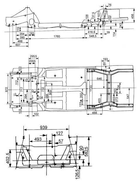 Ремонтные размеры кузовов Ford Escort (Форд Эскорт)