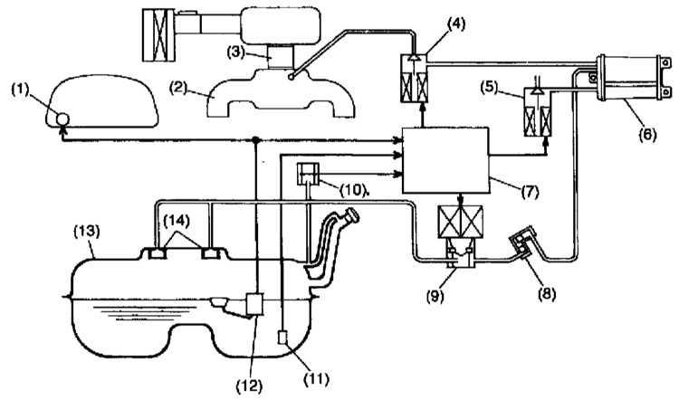 Система улавливания топливных испарений (EVAP) Subaru Forester