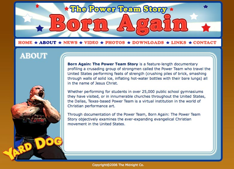 Born Again - about page