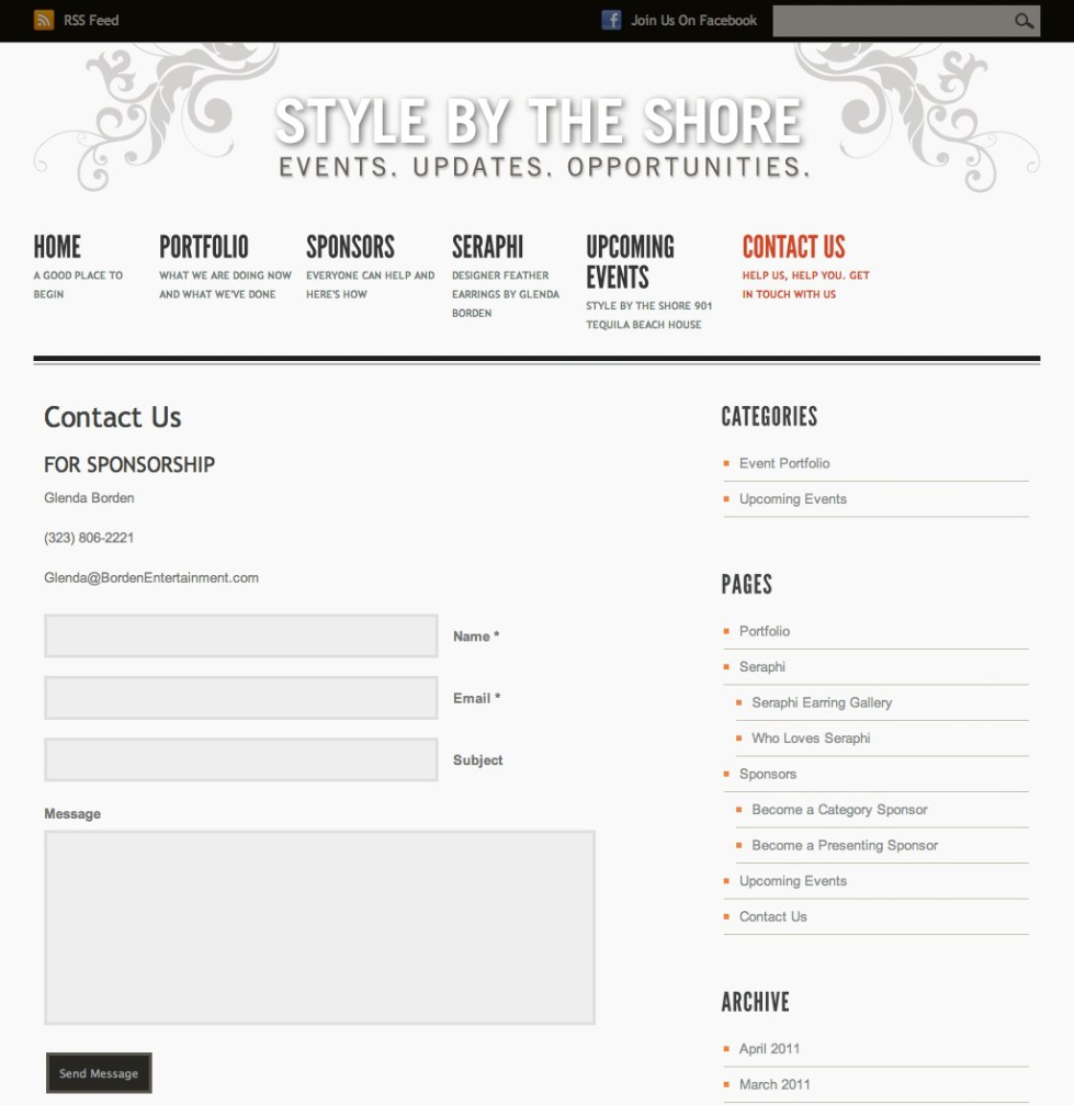 Style by the Shore Contact Page