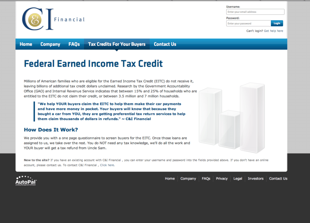 Old C& I Financial Tax Credit