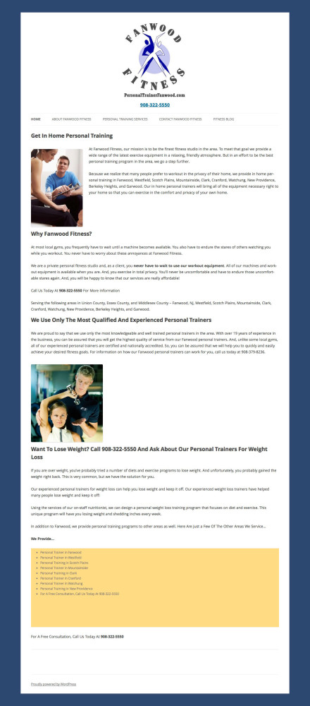 Old Personal Trainer Site About