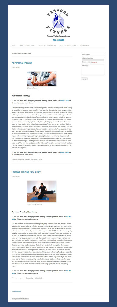 Old Personal Trainer Site Fitness Blog