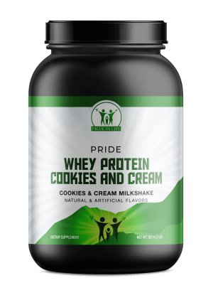 Pride Whey Protein Cookies and Cream