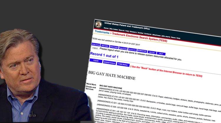 Stephen Bannon's Big Gay Hate Machine