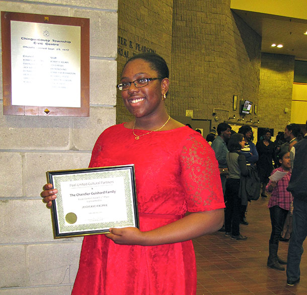 Jeydeane Palmer, second place winner of the Black History Essay Awards. Photo by Neil Armstrong.