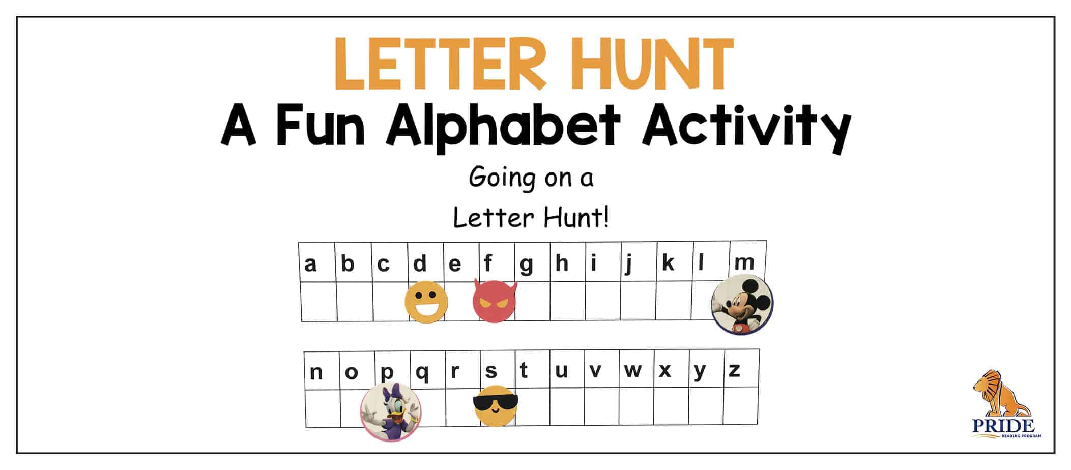 Letter Hunt A Fun Alphabet Activity