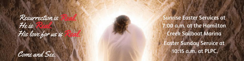 He is Risen. 2018 Easter Banner.