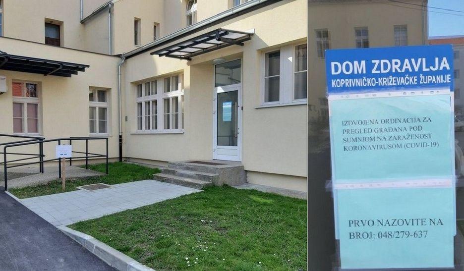 Izdvojena ordinacija za pregled građana pod sumnjom na zaraženost koronavirusom počela s radom u Koprivnici