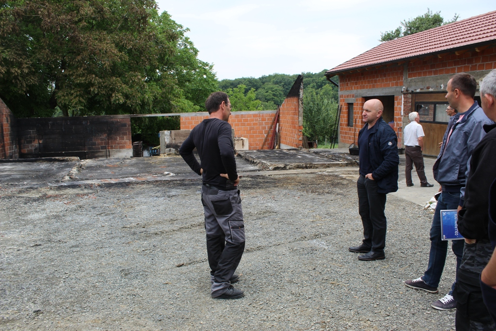 Dogradonačelnik Mario Martinčević obišao obitelj Sovar u Glogovnici kojoj je u požaru izgorio gospodarski objekt uz kuću