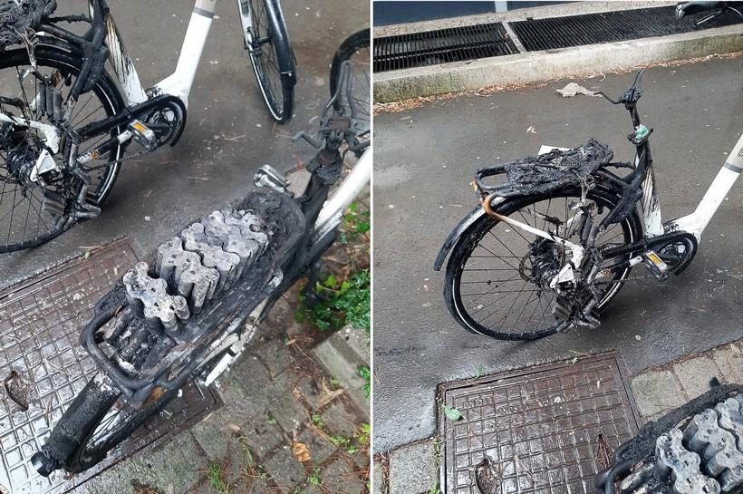 Električni bicikl se doslovno rastopio; za sobom 'povukao' i čajnu kuhinju