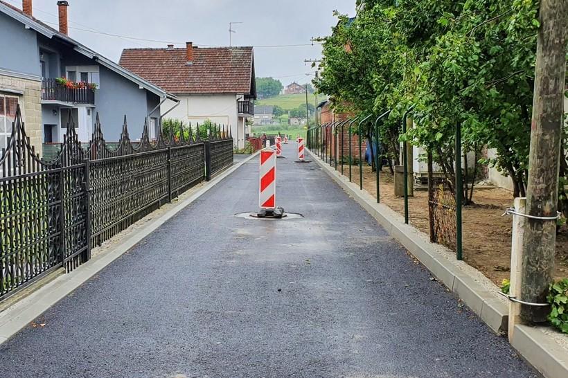 Asfaltirana Savska ulica u Bjelovaru