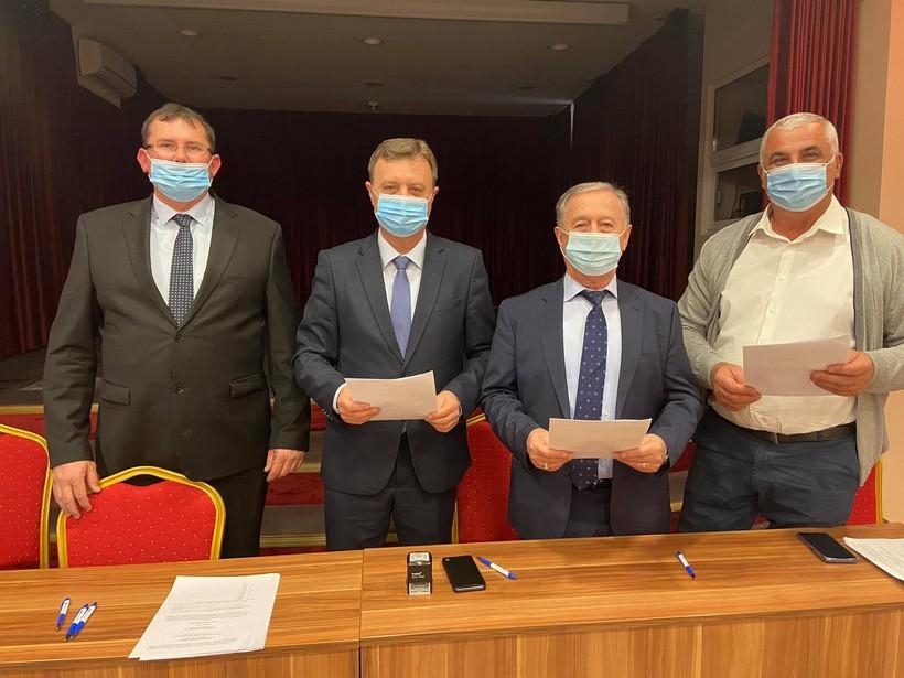 Darko Sobota, Željko Pintar i Mladen Mađer potpisali koalicijski sporazum za izbore u Općini Novigrad Podravski