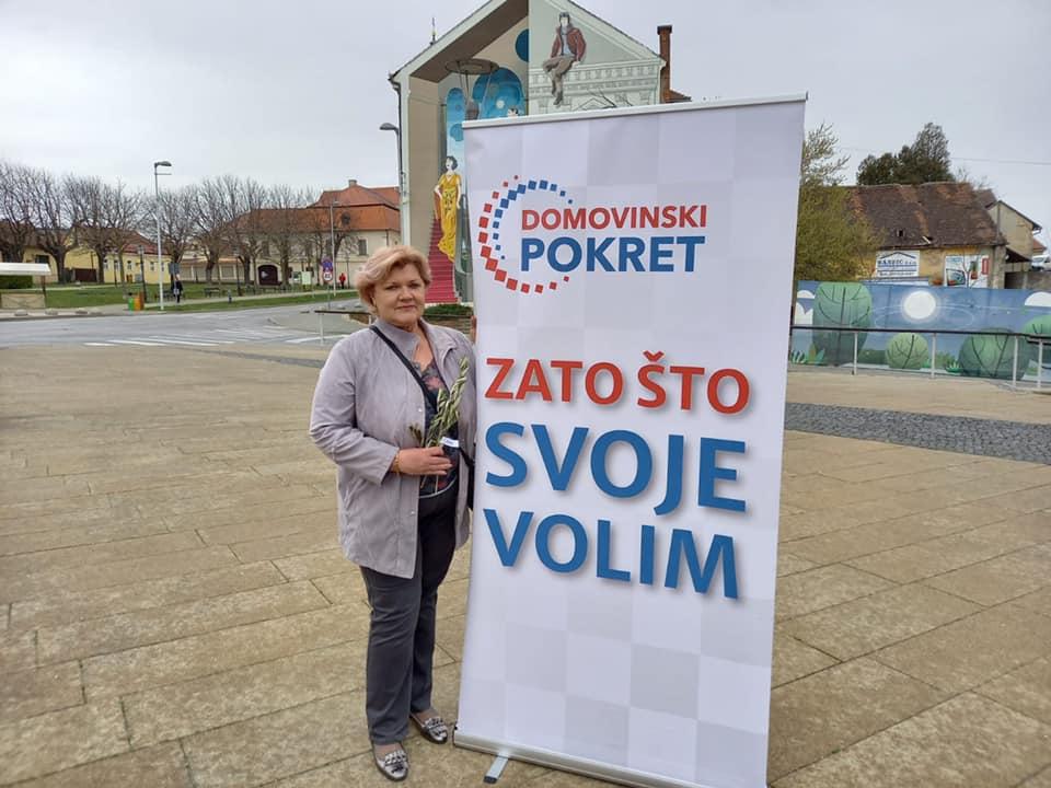 Mirjana Hanžeković kandidatkinja DP-a za koprivničko-križevačku županicu