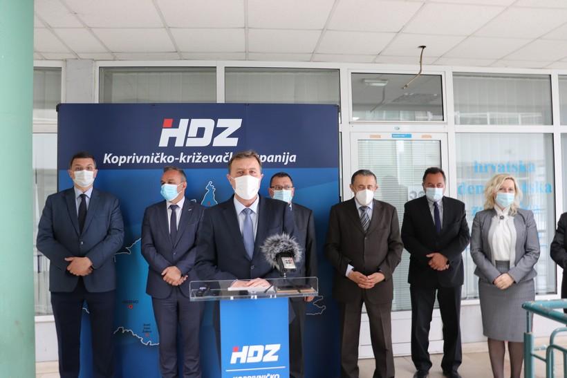 Koprivničko-križevački HDZ predao listu za Županijsku skupštinu; Sobota: 'Imamo predstavnike iz svih općina i gradova'