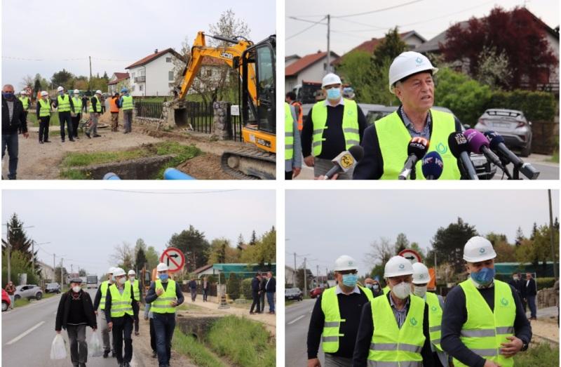 Župan Zagrebačke županije Stjepan Kožić obišao radove na RVS Zagreb – Istok na vodoopskrbnom području Dugo Selo