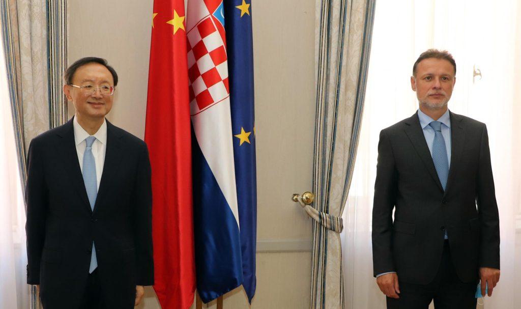 Jandroković se sastao s Jiechijem: Hrvatsko-kineski odnosi su dobri i prijateljski