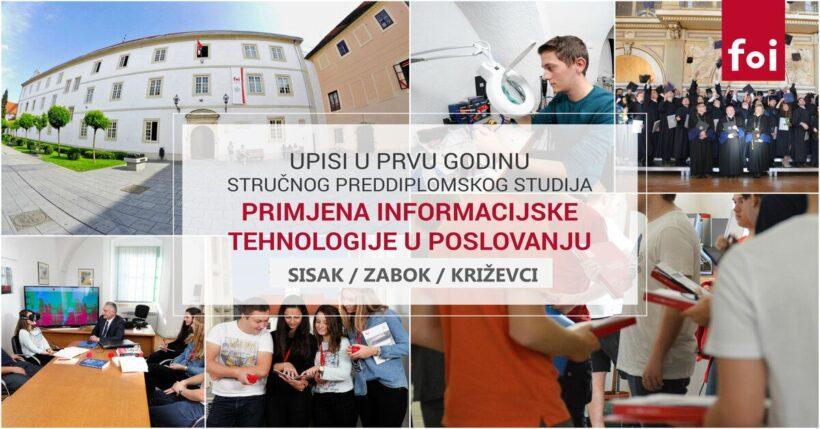 Fakultet organizacije i informatike možete upisati u Varaždinu, ali i u Sisku, Križevcima i Zaboku!