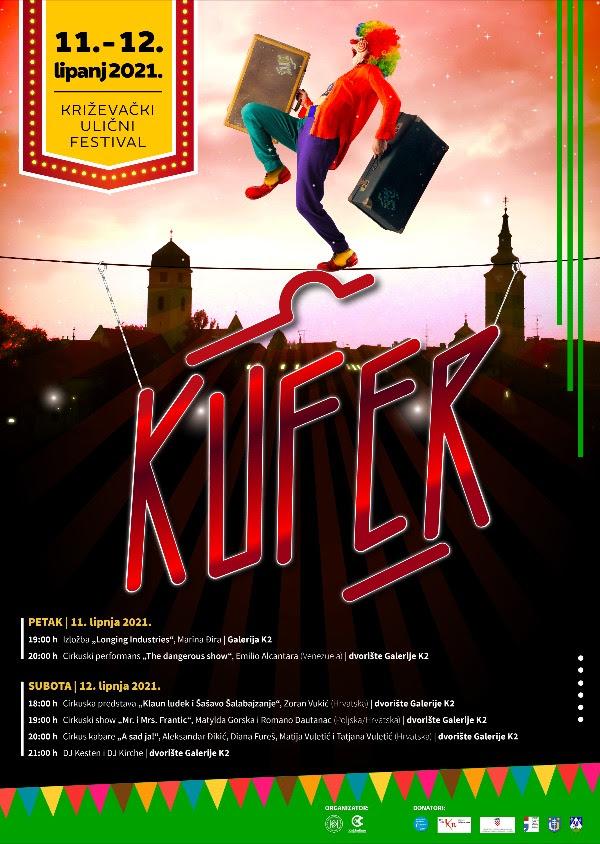 K.U.F.E.R. i ove godine od 11. do 12. lipnja u dvorištu Galerije K2 u Križevcima