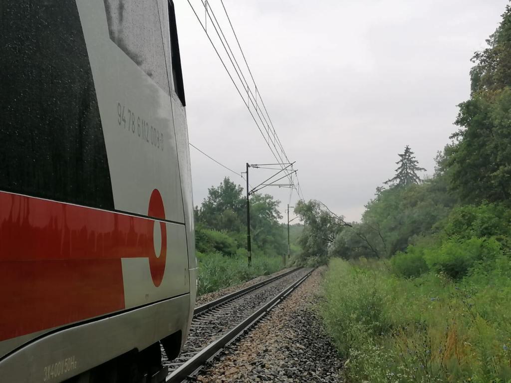 Prekinut željeznički promet prema Zagrebu, drvo se srušilo na prugu
