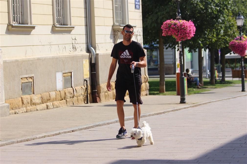 Vratar Radnika Križevci Miroslav Koprić u šetnji križevačkom špicom
