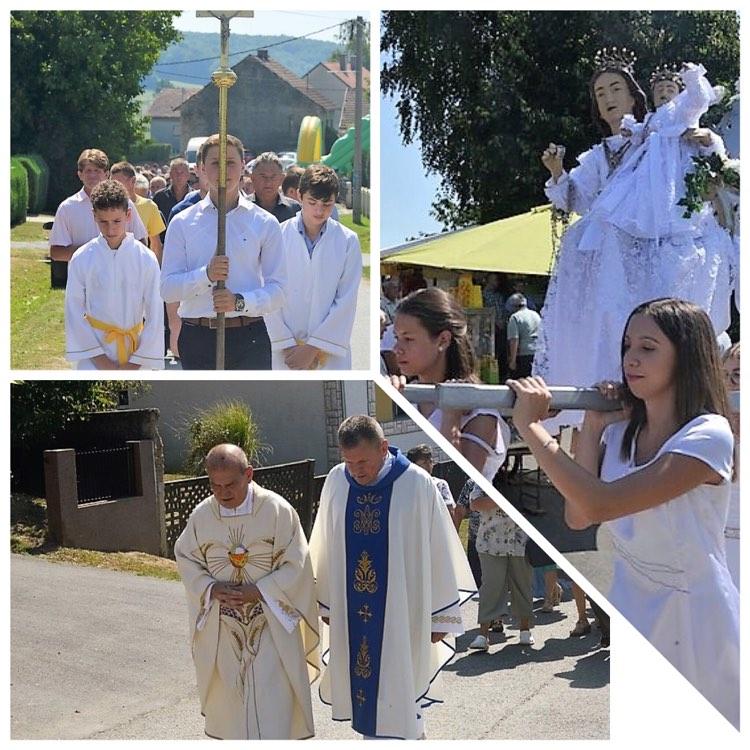 🖼️ 🎦 Procesijom i svečanim misnim slavljem u Glogovnici proslavljena svetkovina Velike Gospe