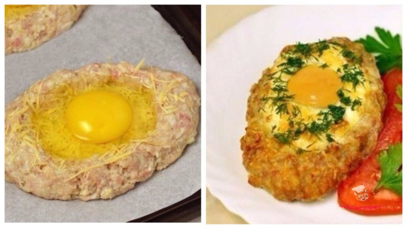 Шницель с яйцом — вкусно и оригинально!