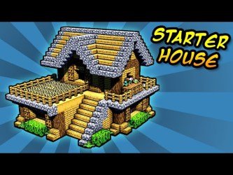 How to Build an Easy Starter House in Minecraft! Tutorial دیدئو dideo