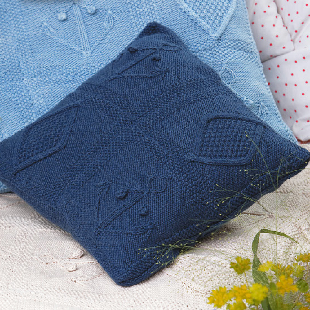 crochet sofa cover patterns sofas chicago add seaside style to a sofa: nautical knitted cushions pattern