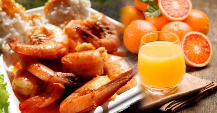 primaberita-minum-jus-setelah-makan-udang