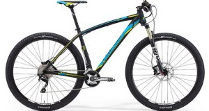 MERIDA 2015 BIG.NINE 800 MAT BLACK (YELLOW / BLUE)