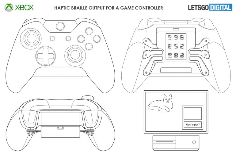 Braille Xbox Controller Plans Revealed For More Accessible