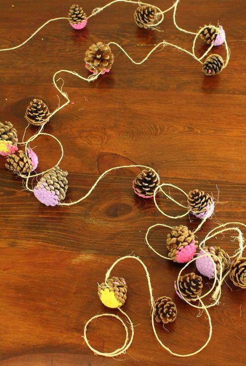 Podzimní tvoření pro děti ze šišek