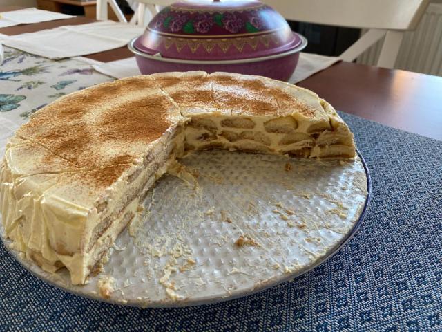 Recept na nepečený piškotový dort se skořicí