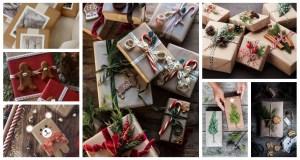Inspirace na zdobení vánočních dárků. Zdroj: Pinterest