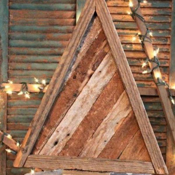 dřevěné dekorace z palety