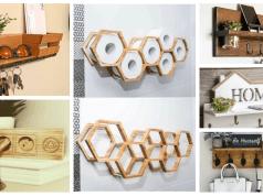 Originální nápady na odkládací místa pro domácí potřeby