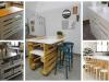 Kuchyňský ostrůvek z dřevěných palet