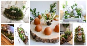 Inspirace na dekorace na jarní stůl