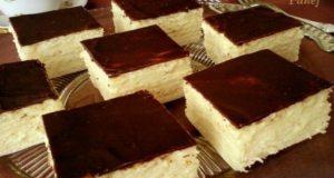 Recept na krémové kostky s čokoládovou polevou