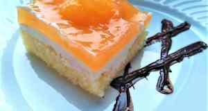Recept na citronový piškot s tvarohovým krémem a meruňkami