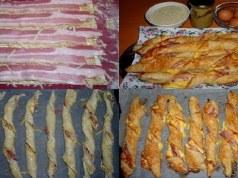 Recept na slaninové tyčinky se sýrem z listového těsta - Prima inspirace