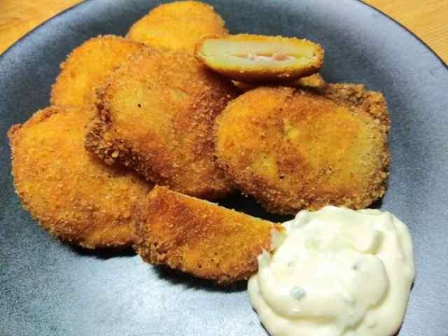 Recept na smažené brambory plněné šunkou