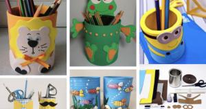 Inspirace na tvoření pro vaše děti - stojan na tužky - Prima inspirace