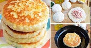 Recept na kefírové placky plněné šunkou a sýrem
