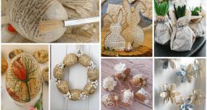 Jarní inspirace na velikonoční vajíčka a jiné dekorace vyrobené z novin a provázků!