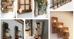 25+ nástěnných dekorací z odpadového dřeva - Prima inspirace