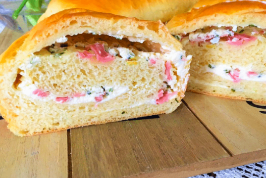 Recept na slaný kynutý jemný chlebík s naplní